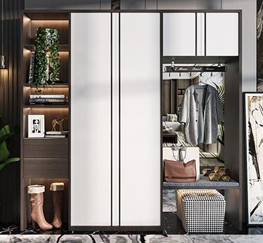 现代鞋柜3d尺寸模型