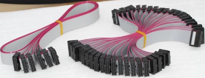 南京市LED户外全彩屏模组专用40CM成品排线(奥马哈)