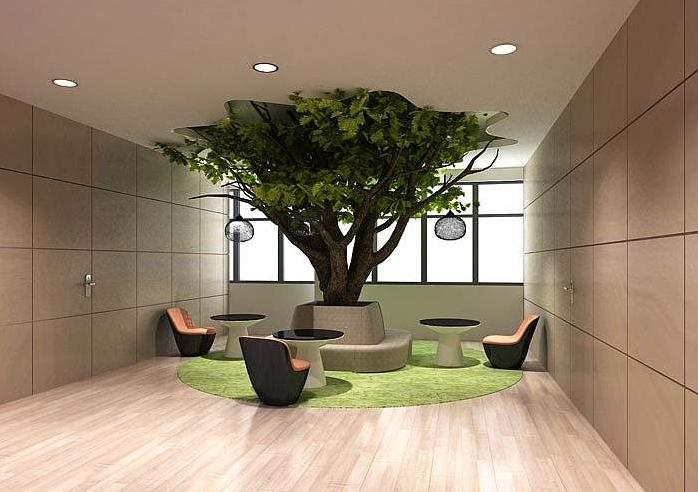 郑州餐厅设计师浅读室内绿化设计