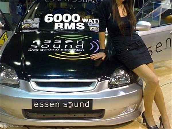 09 years of Saint merry song car amplifier - Europe show car (Honda civic)