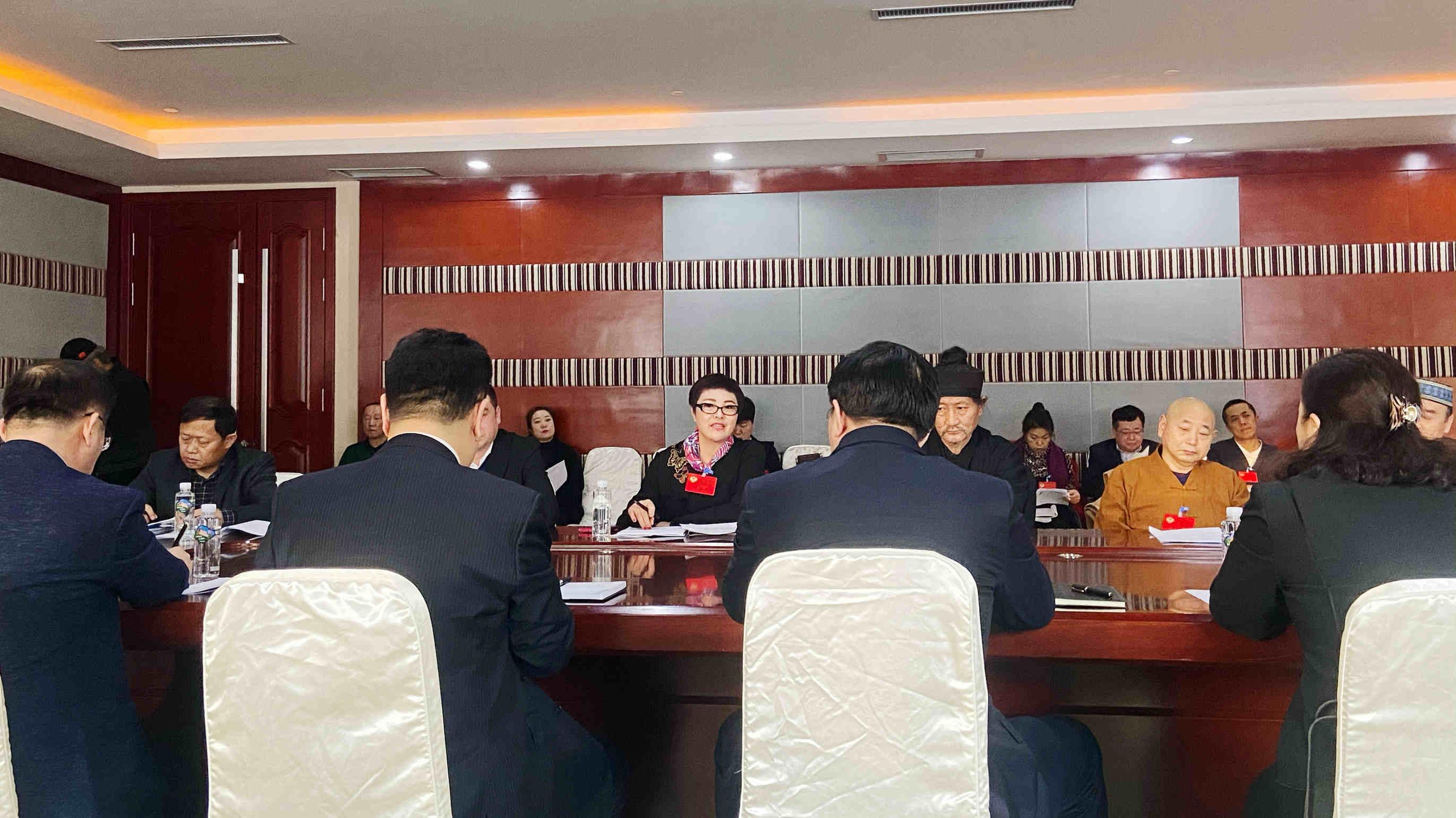 北京英国威廉希尔公司鸿图科技集团有限公司董事长魏丽虹参加中国人民政治协商会议双鸭山市第十一届委员会第四次会议