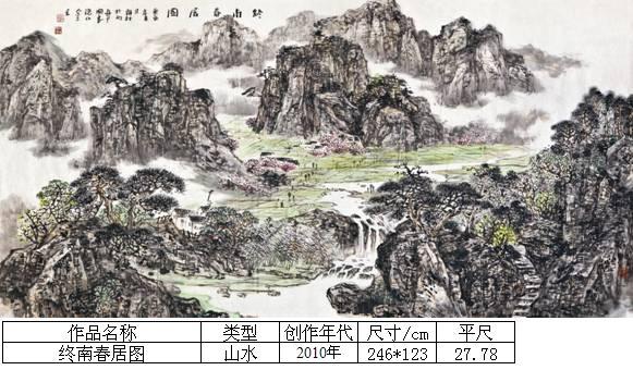 杨霜林22终南春居图
