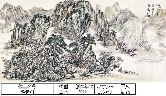杨霜林39游春图