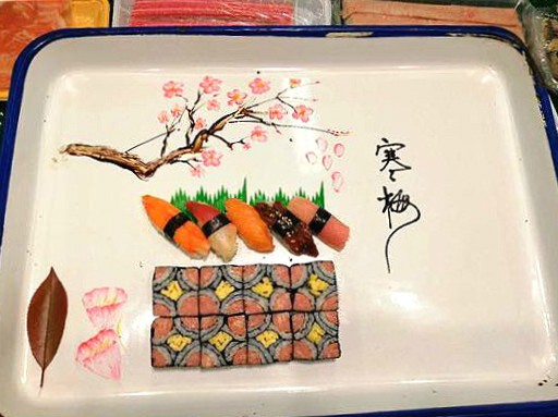 参加公司组织的寿司比拼