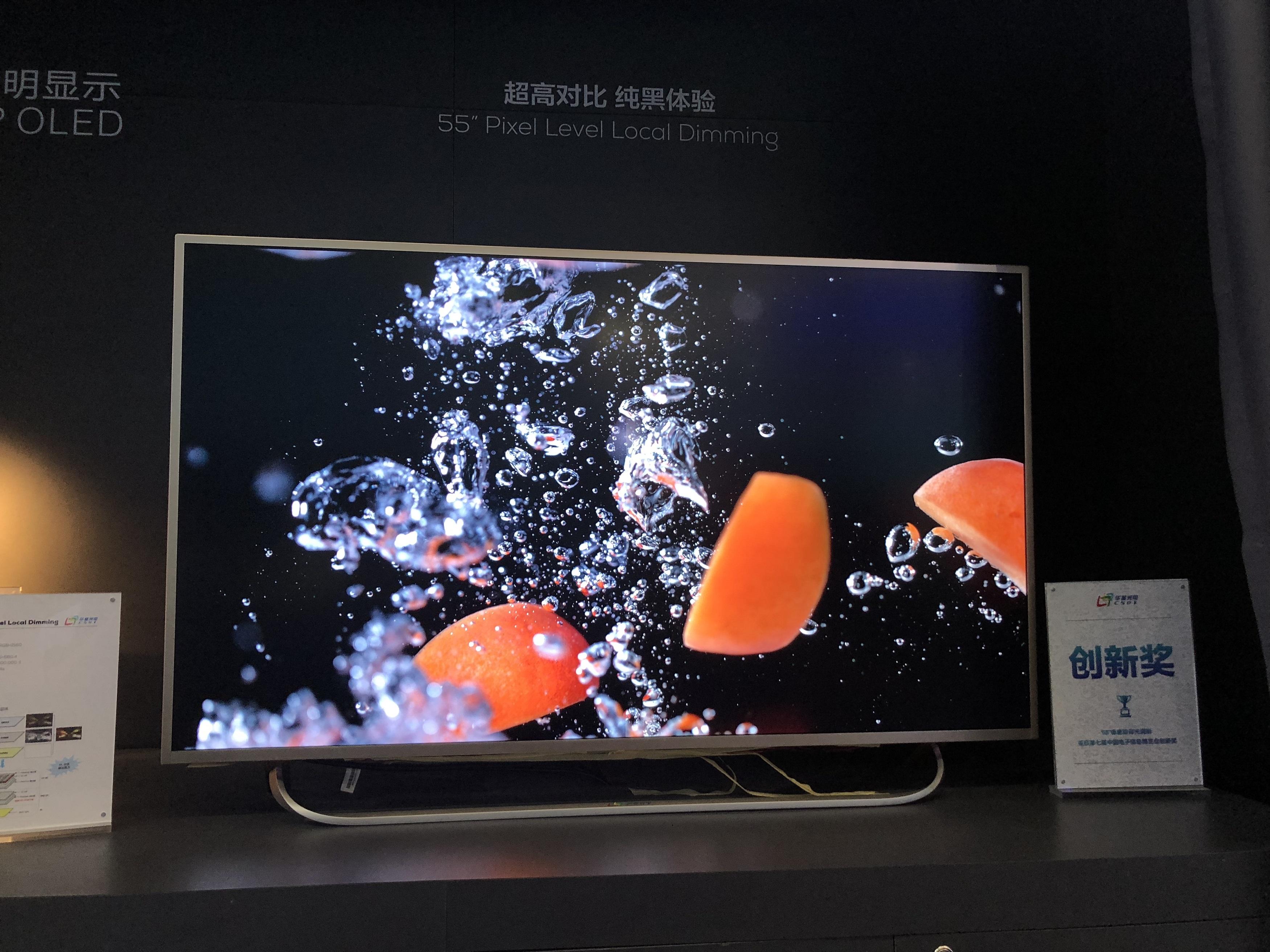 华星光电55吋电视面板2019年1月出货量全球第一,占比25%