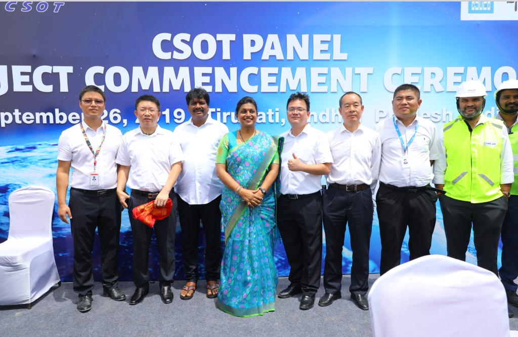 TCL华星印度模组项目桩基开工