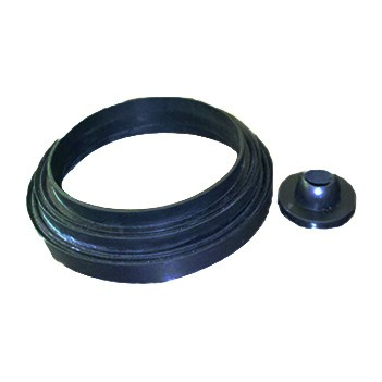 卫浴配件 蹲坐便器水箱连接管密封圈 水箱冲水管胶套 单按 双按