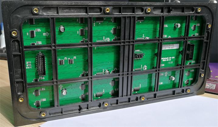 梅州市华丰新酒店出入口LED户外显示屏专用P8简易箱体(奥马哈)