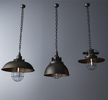 现代创意吊灯3d模型