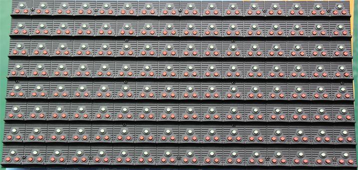 太原市三环高速LED交通诱导屏专用P20户外双色标箱体