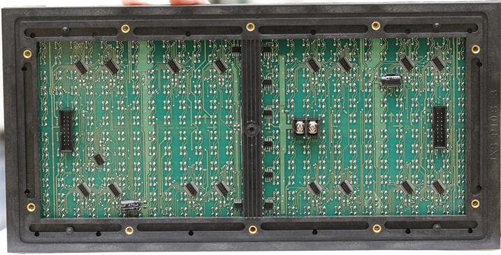 保定市北三环路LED交通诱导屏专用P10户外双色模组(奥马哈)
