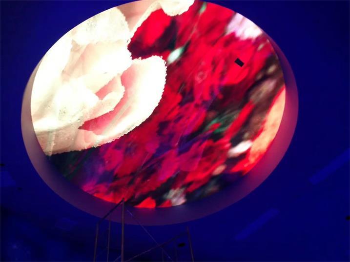 河源市东源税务局办公大厅LED室内全彩屏专用P3.076表贴单元板(奥马哈)