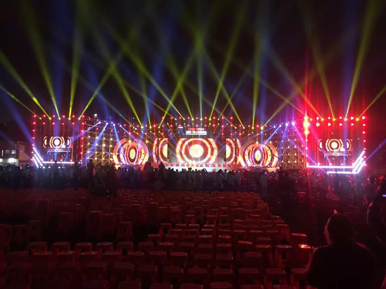 济南市黄河宾馆宴会厅LED舞台屏专用P3.91租赁箱体(奥马哈)