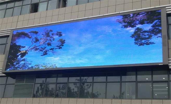 宁波市经贸人才市场LED户外全彩屏专用P10插灯全彩箱体(奥马哈)