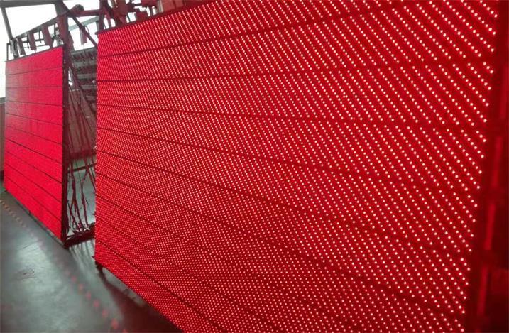 淮安市淮剧团LED半户外单红舞台屏专用5.0半户外插灯单元板(奥马哈)
