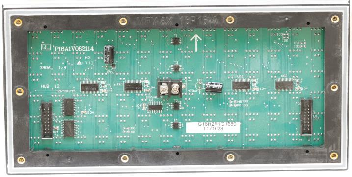 临沂市北环路LED交通诱导屏专用P16户外双色标箱(奥马哈)
