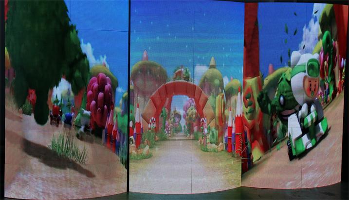潮州锦峰天地营销中心LED室内全彩屏专用P2.5单元板(奥马哈)