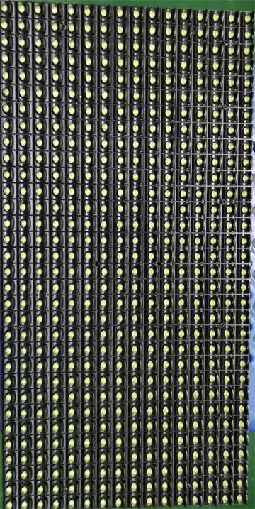青岛市即墨鼎信水果市场LED单黄条屏专用P10户外单黄模组(奥马哈)