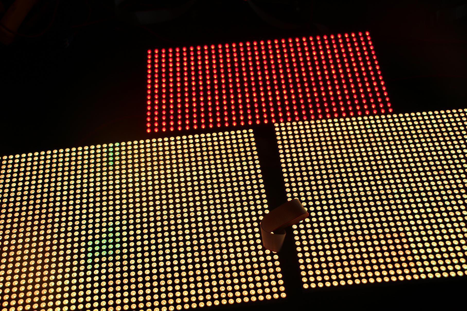 广州市红豆粤剧团LED舞台屏专用5.0点阵双色单元板(奥马哈)