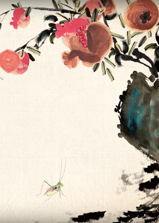 8K技术加齐白石画风 水墨动画《秋实》征战柏林