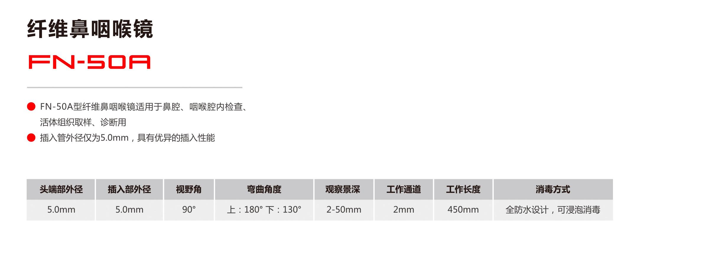 纤维鼻咽喉镜 FN-50A
