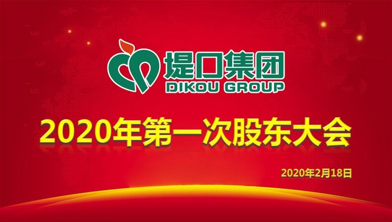 集团公司召开2020年第一次股东大会