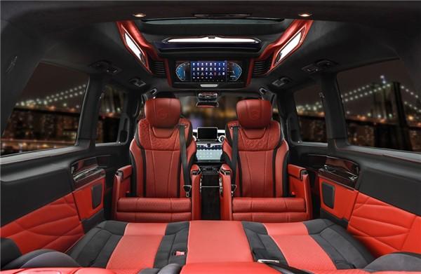 奔驰v260高顶不隔断冠红色