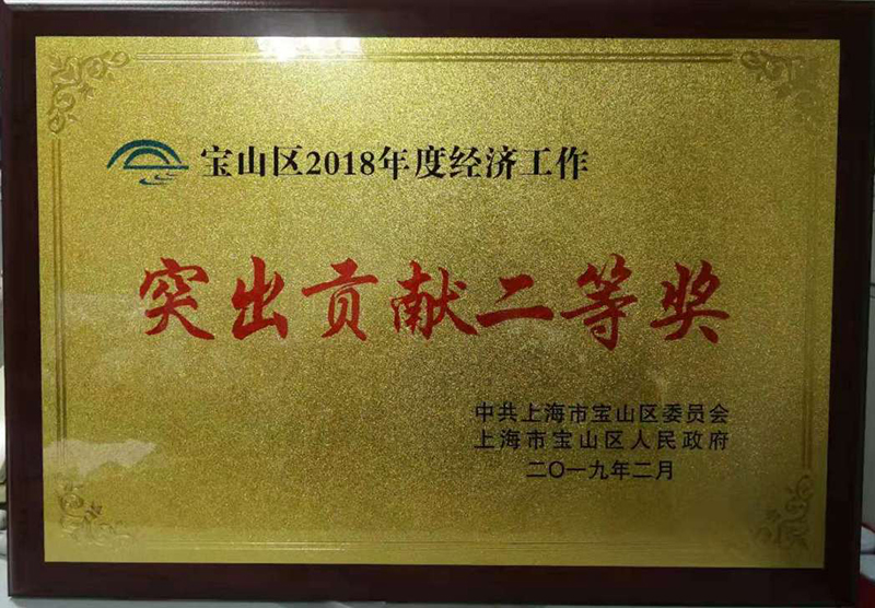 """复星长征荣获宝山区2018年度经济工作""""突出贡献二等奖"""""""