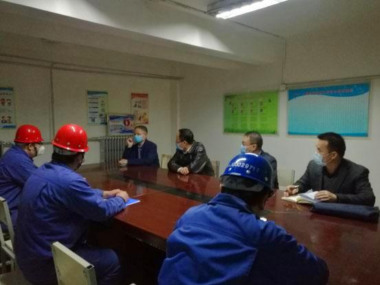嘉峪关市纪委书记马庆等领导到奥福分公司检查指导疫情防控及生产情况