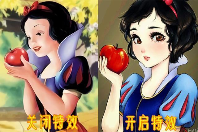 当迪士尼动画中的公主开启日系特效后,连愤怒的艾莎都变得可爱了