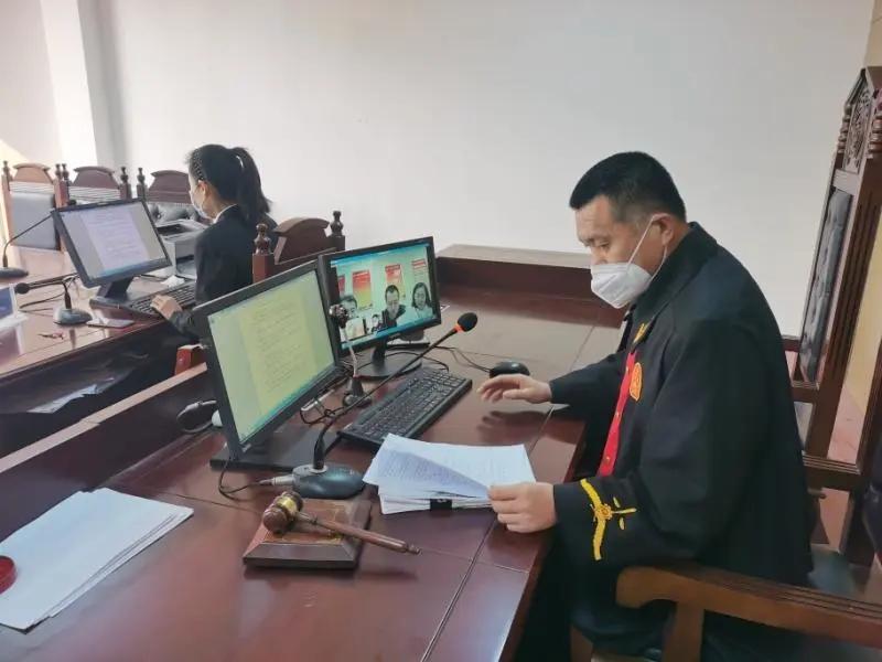 防疫在线下,庭审在云端/蓬莱欧宝体育登陆首页互联网开庭审理一起行政案件
