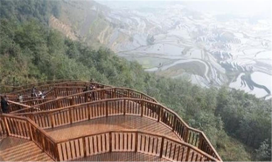多依树景点梯田式观景台建成接客