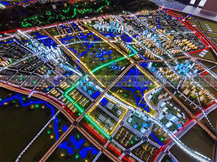 龙泉东安湖规划沙盘