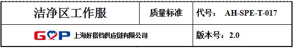 制药企业质管部批准的洁净区工作服供应商名单和洁净服验证文件