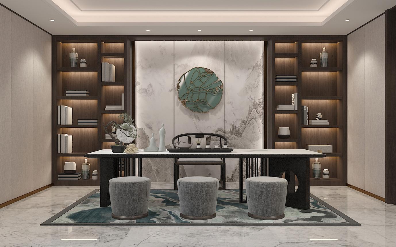别墅空间:素·奢|新中式风格|320㎡