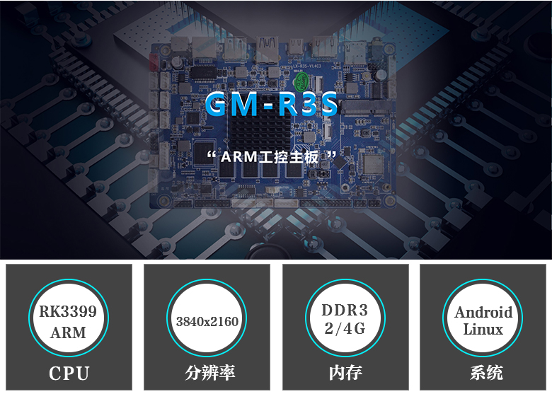 GM-R3S ARM嵌入式主板 RK3399