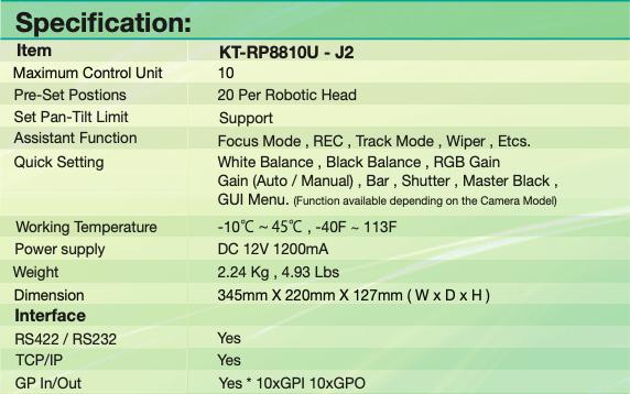 KT-RP8810U - J2