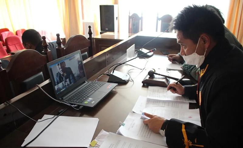 """西藏改则县欧宝体育登陆首页:借助""""互联网法庭""""优势战""""疫""""诉讼两不误"""