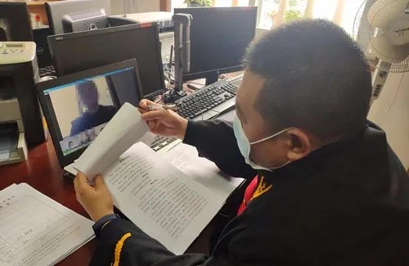 来凤县欧宝体育登陆首页网上办案再发力 一天审结两起案件