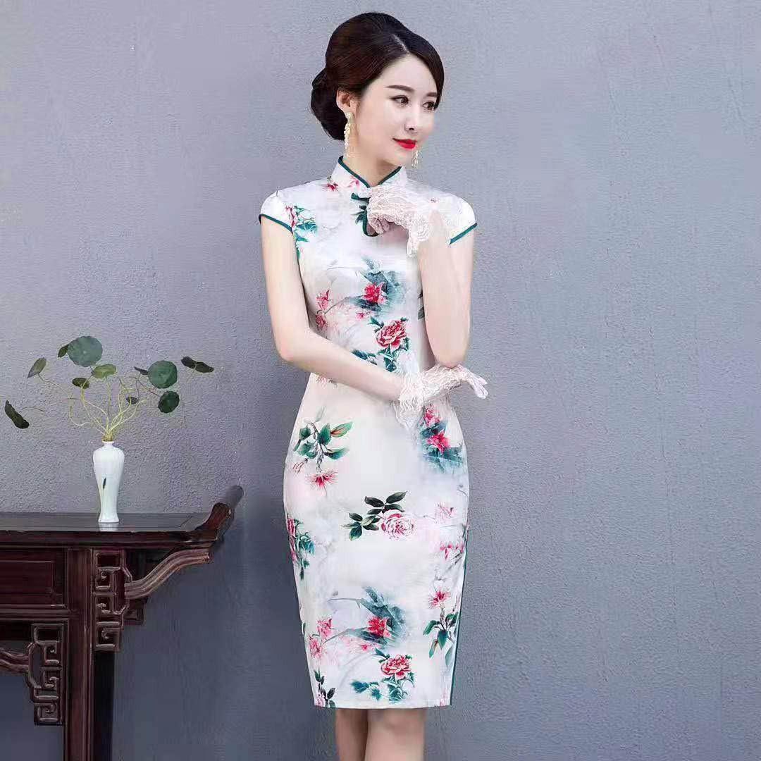 中时海创品牌女装折扣【潇萍萍旗袍】20夏装系列品牌上新