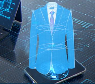 智能定制西服上架:在线量体 单件单裁