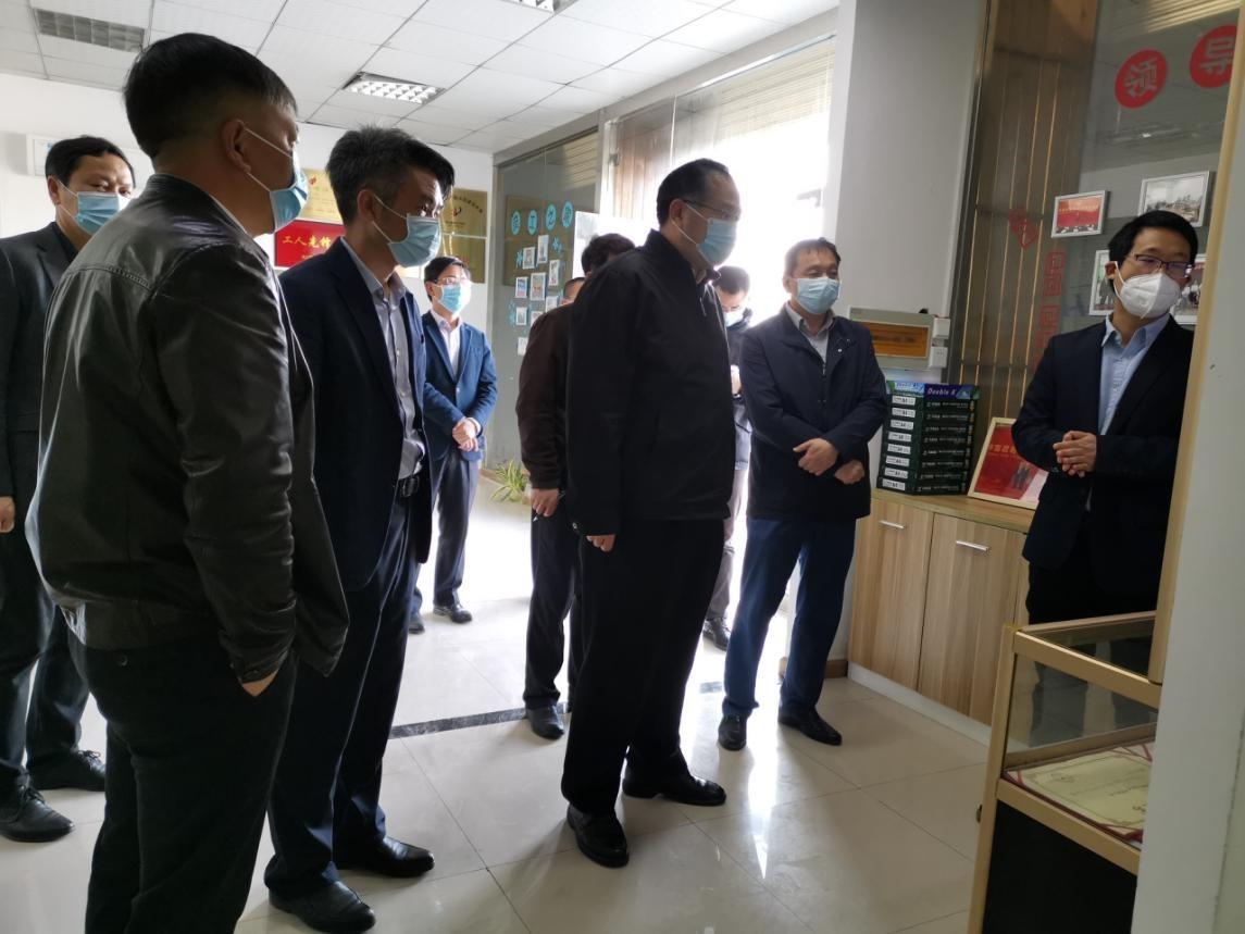 湖北省政协副主席马旭明调研硒诺唯新