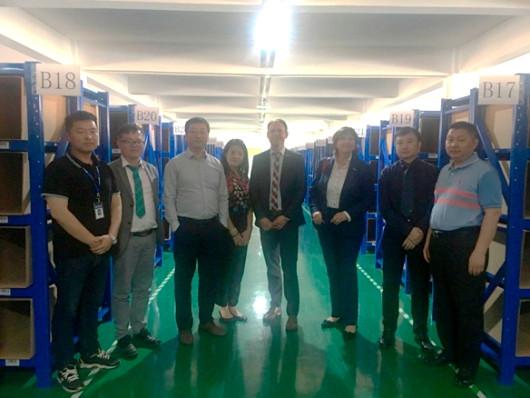 贝朗德国总部高层参观上海嘉定仓