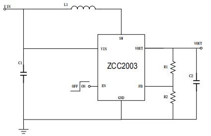0.8V输入5V 2.5A输出ZCC2003