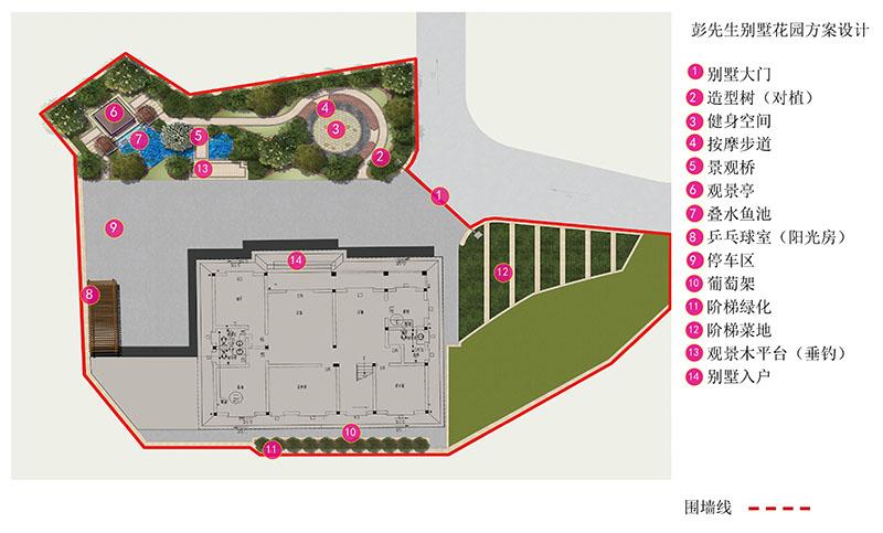 安化彭先生别墅花园设计回顾