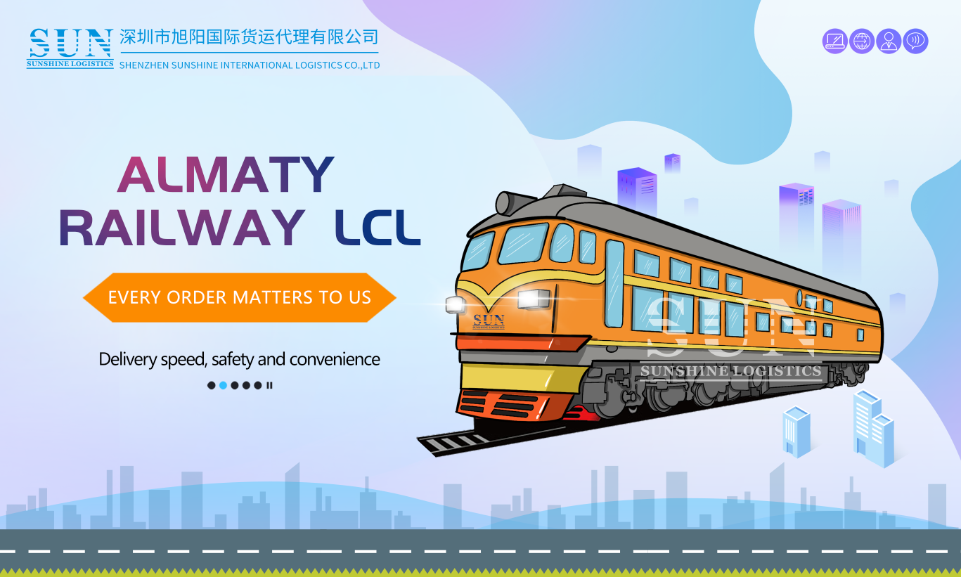 Almaty railway container transportation