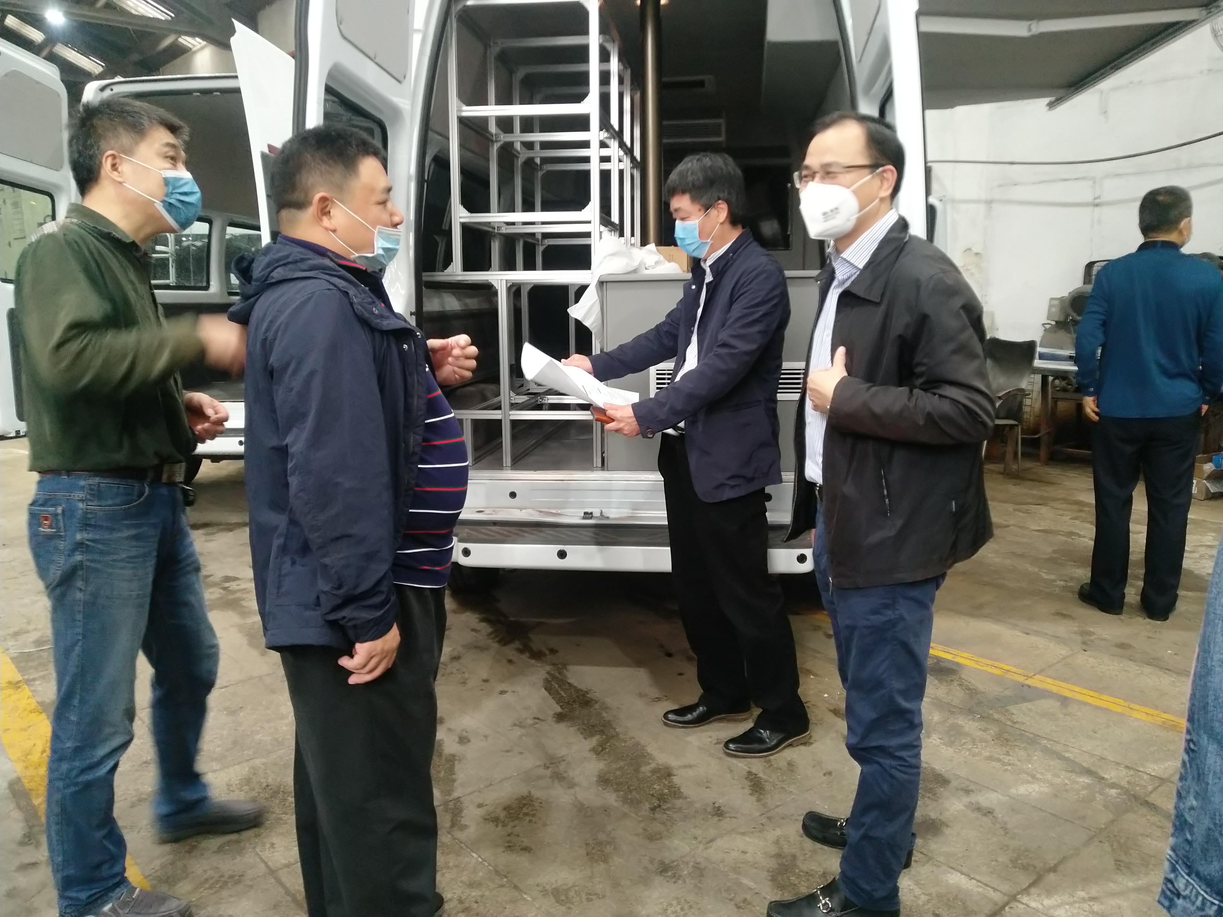 广东省建筑科学研究院领导一行8人莅临我公司指导工作,关心疫情期间的产品进度以及遇到的生产困难