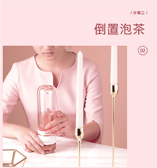 物生物茶水分离泡茶杯双层玻璃杯过滤保温女透明便携随手杯水杯子