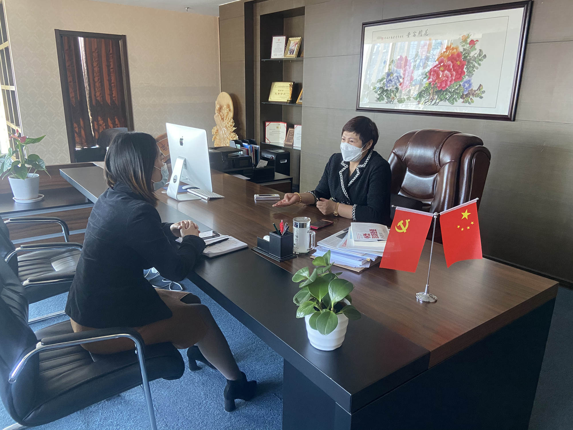 北京常氏鸿图集团企业新闻——集团董事长魏丽虹与企业高管就2020年集团发展方向进行会议商讨