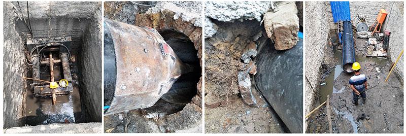 排水管道塌方非开挖修复